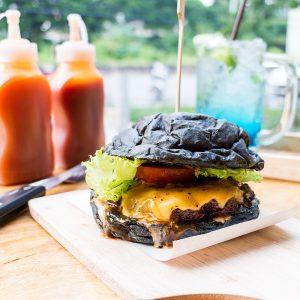 Hot Lava Factory Halal Homemade Burger